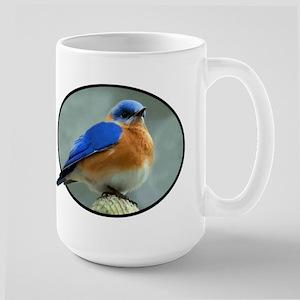 Bluebird in Oval Frame Large Mug