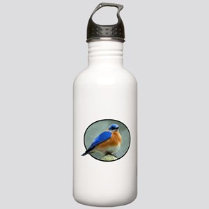 Bluebird in Oval Frame Stainless Water Bottle 1.0L