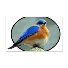 Bluebird in Oval Frame Wall Decal