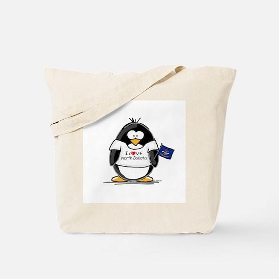North Dakota Penguin Tote Bag