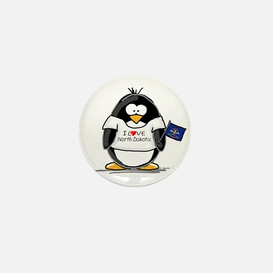 North Dakota Penguin Mini Button