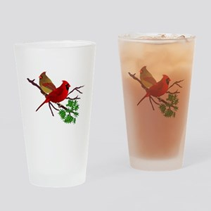 Cardinal Couple on a Branch Drinking Glass