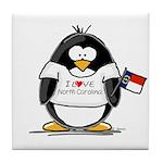 North Carolina Penguin Tile Coaster