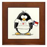 North Carolina Penguin Framed Tile