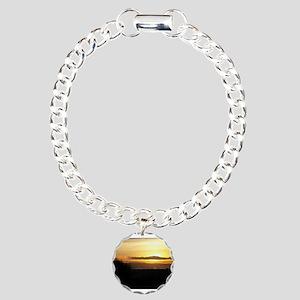 Sunset on Coronado Charm Bracelet, One Charm