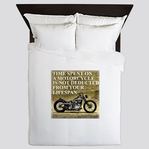 Time Spent On A Motorcycle Queen Duvet