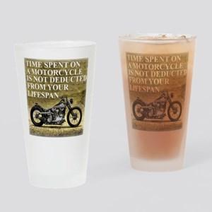 Time Spent On A Motorcycle Drinking Glass