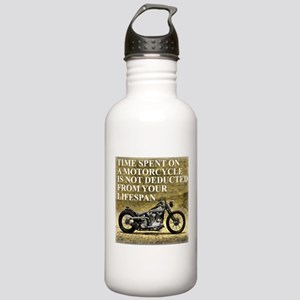 Time Spent On A Motorcycle Stainless Water Bottle