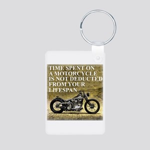 Time Spent On A Motorcycle Aluminum Photo Keychain
