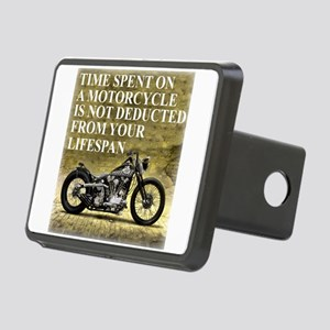 Time Spent On A Motorcycle Rectangular Hitch Cover
