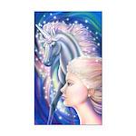 Unicorn Princess Rectangle Car Magnet