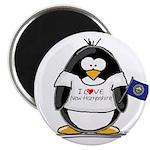 New Hampshire Penguin Magnet