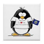 New Hampshire Penguin Tile Coaster