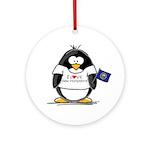 New Hampshire Penguin Ornament (Round)