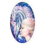 Unicorn Princess Sticker (Oval)
