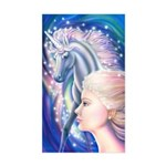 Unicorn Princess Sticker (Rectangle)