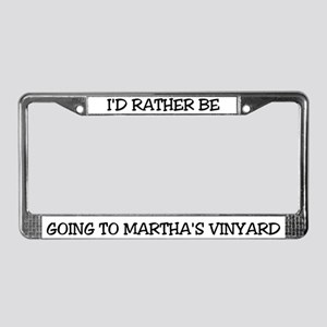 Rather Be Martha's Vinyard License Plate Frame
