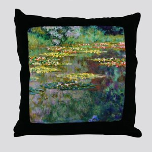 Monet - Le Bassin Throw Pillow