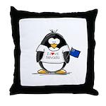 Nevada Penguin Throw Pillow
