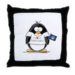 Nebraska Penguin Throw Pillow