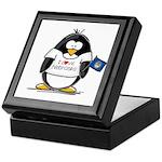 Nebraska Penguin Keepsake Box