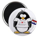 Missouri Penguin Magnet