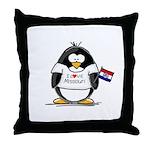 Missouri Penguin Throw Pillow