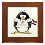 Missouri Penguin Framed Tile