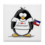 Mississippi Penguin Tile Coaster