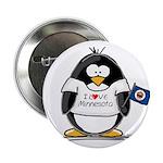 Minnesota Penguin Button