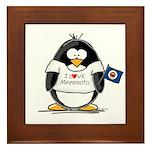 Minnesota Penguin Framed Tile