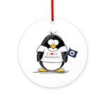 Minnesota Penguin Ornament (Round)