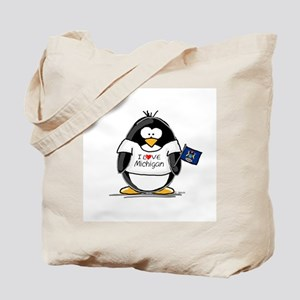 Michigan Penguin Tote Bag