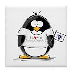 Massachusetts Penguin Tile Coaster