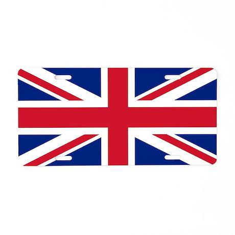 UK Falg Aluminum License Plate