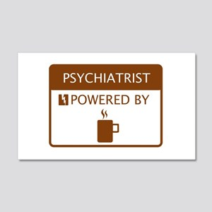 Psychiatrist Powered by Coffee 20x12 Wall Decal