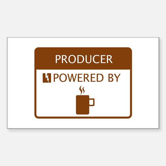 Producer Powered by Coffee Sticker (Rectangle)