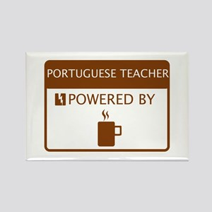 Portuguese Teacher Powered by Coffee Rectangle Mag