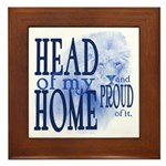 Head of my Home (BLUE) Framed Tile