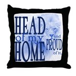 Head of my Home (BLUE) Throw Pillow