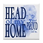 Head of my Home (BLUE) Tile Coaster