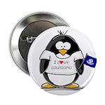 Louisiana Penguin Button