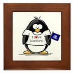 Louisiana Penguin Framed Tile