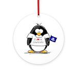 Louisiana Penguin Ornament (Round)