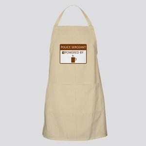 Police Sergeant Powered by Coffee Apron