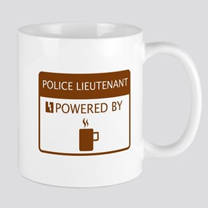Police Lieutenant Powered by Coffee Mug