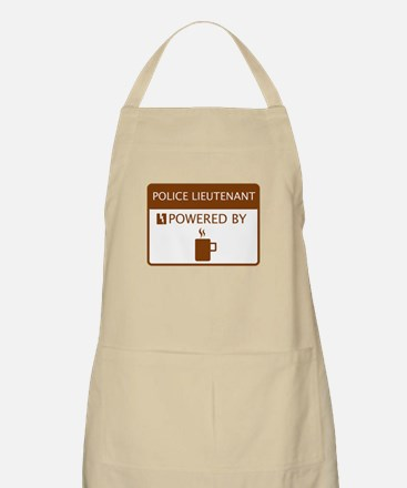 Police Lieutenant Powered by Coffee Apron