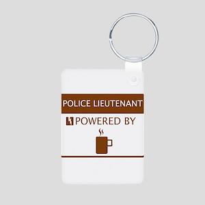 Police Lieutenant Powered by Coffee Aluminum Photo