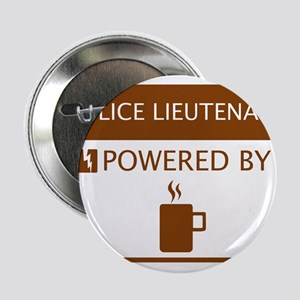 """Police Lieutenant Powered by Coffee 2.25"""" Button"""