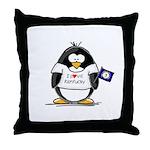 Kentucky Penguin Throw Pillow
